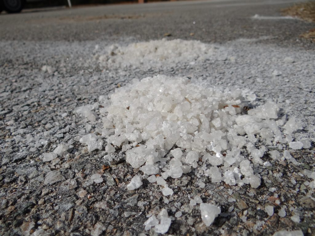 Salted road